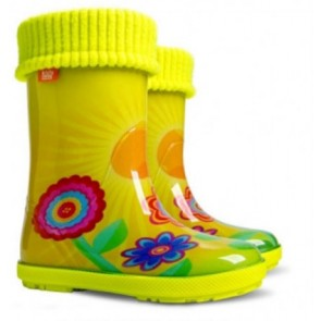 Kids Demar Hawaii Lux Exclusive Sunshine Wellingtons with liner