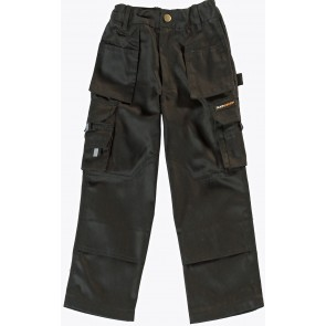 Kids Boys Work Trousers with Knee Pad Pockets