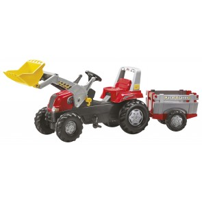 Rolly Junior Red Tractor Loader & Trailer 3-8yrs