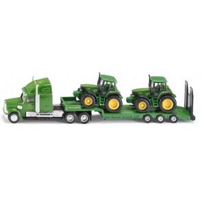 Siku John Deere Low Loader with 2 Tractors